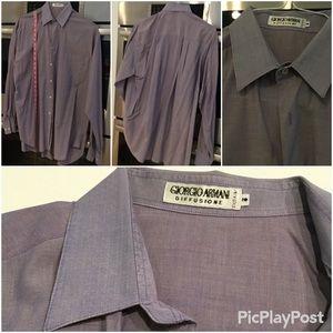Giorgio Armani Diffusione Men Dress Shirt, SZ.M